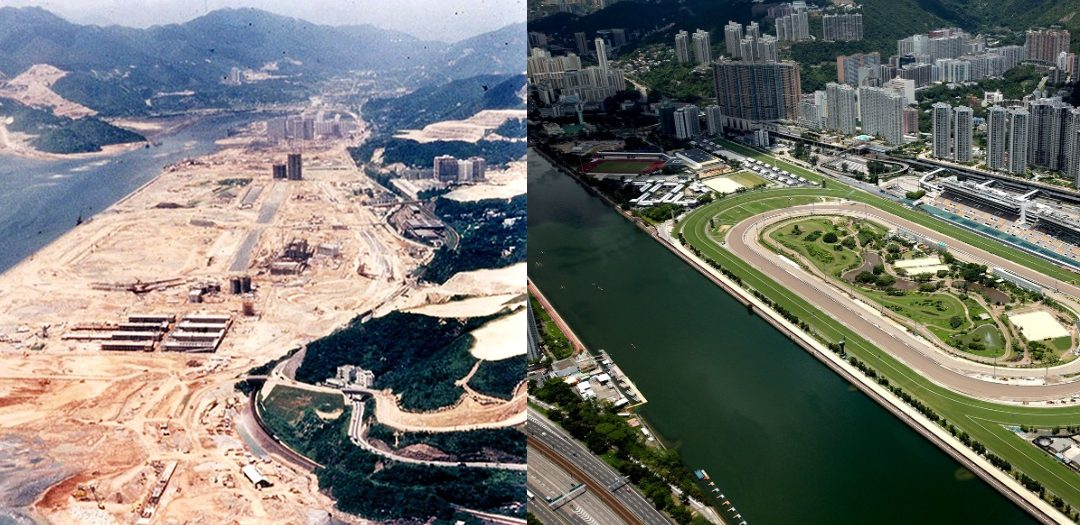Sha Tin racecourse 40yrs old today.. then & now pics